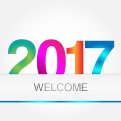 Allegro sfondo di benvenuto al nuovo anno 2017