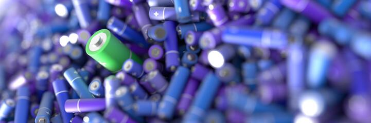 Infinite alkaline batteries