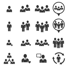 people icon - people vector icon set