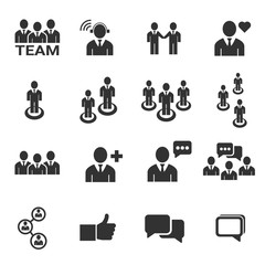 people icon - vector icon set