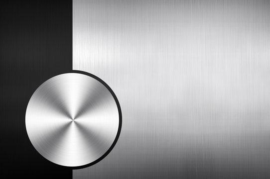 polished metal with knob design background