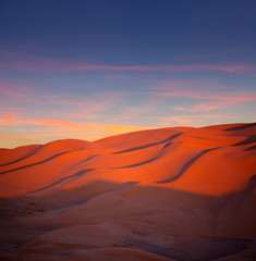 Fotobehang Baksteen Sand dunes in Erg Chebbi in Sahara desert, Morocco, Africa