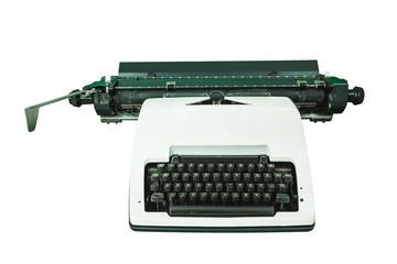 Old thai typewriter isolate on white