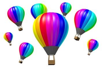 3D hot air balloons