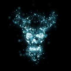 Sparkles Skull Halloween Blue