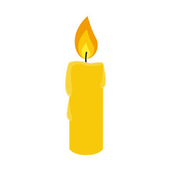 Flat icon candle. Vector illustration.