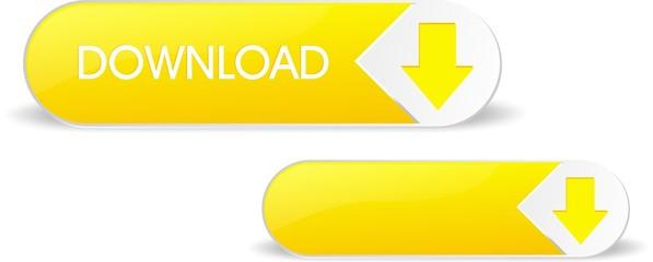 Yellow glosy download button