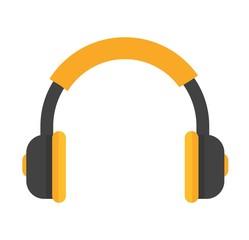 Headphones vector icon isolated