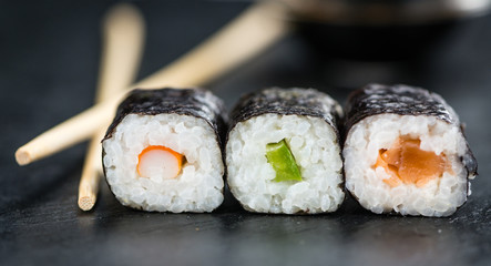 Fresh made Sushi (selective focus)