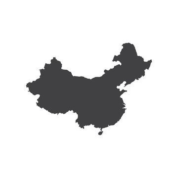 Republic of China map silhouette