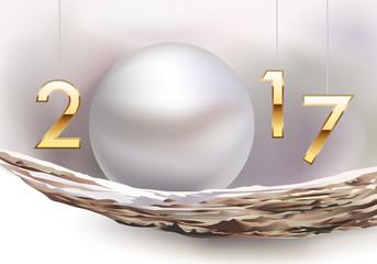 2017 - Carte de vœux - Perle