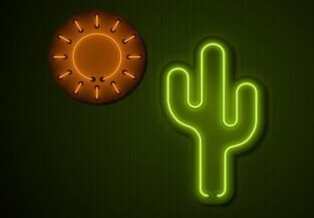 Grafica titolo neon