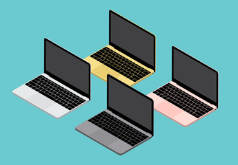 Laptop-Illustrationen