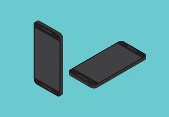Illustrazioni dispositivi mobili neri
