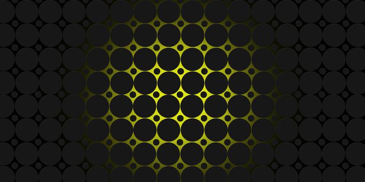 black and yellow circles modern background illustration
