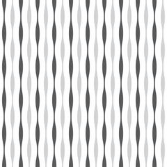 Pattern wave seamless black and white vector illustration