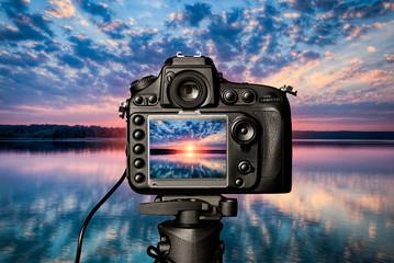 Digital camera concept.