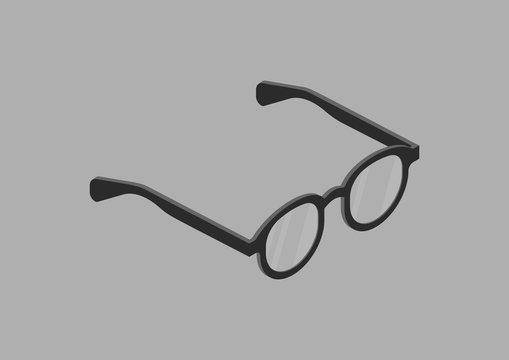 sunglasses isometric vector design