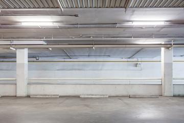 Parking garage interior, industrial building,Empty underground.