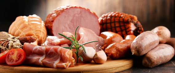 Autocollant pour porte Viande Meat products including ham and sausages