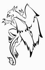 Griffon tattoo