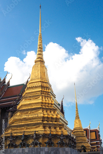 Wat phra kaew and architecture of thailand stock photo for Wat architecture