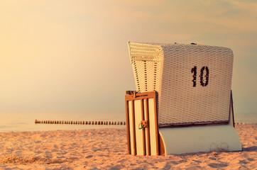 Strandkorb am Strand von Warnemünde
