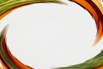 Abstract orange and green blurred background
