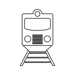 train vehicle icon. transportation travel and trip theme. Isolated design. Vector illustration