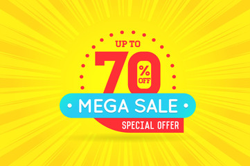Sale Sign Banner Poster ready for Web and Print. Vector. Super,