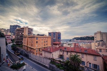 Monaco: top view of the city