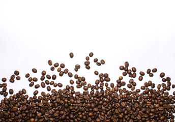 Coffee beans on white.