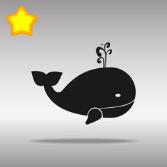black whale Icon button logo symbol concept high quality