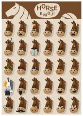 Horse emoji icons , vector , illustration