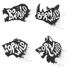 Born wild. Wild animals
