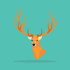 Deer antler icon