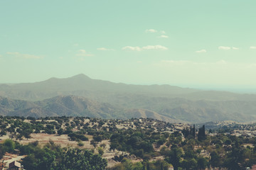 Picturesque landscapes of the island of Cyprus