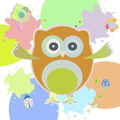 Cute Owl - greetings card