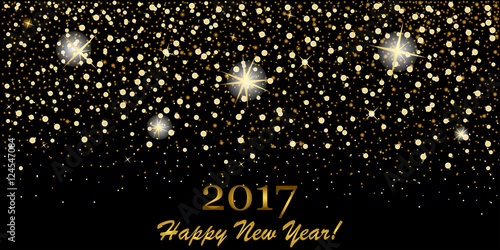 eps 10 vector premium golden glitter background 2017 happy new year luxury greeting card