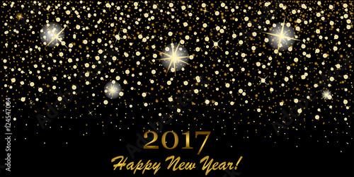 Eps 10 Vector Premium Golden Glitter Background 2017 Happy New Year