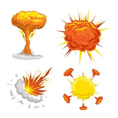 Bomb explosion effect vector