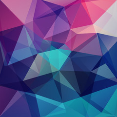 Abstract geometric style background. Vector illustration. Pink, purple, blue colors