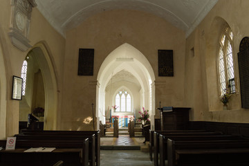Nave of Church of The Blessed Virgin Mary in Emborough Somerset