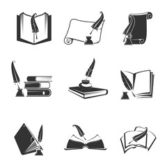 Vector icons of science, study, knowledge