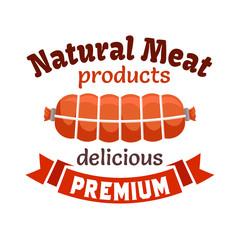 Natural meat products emblem