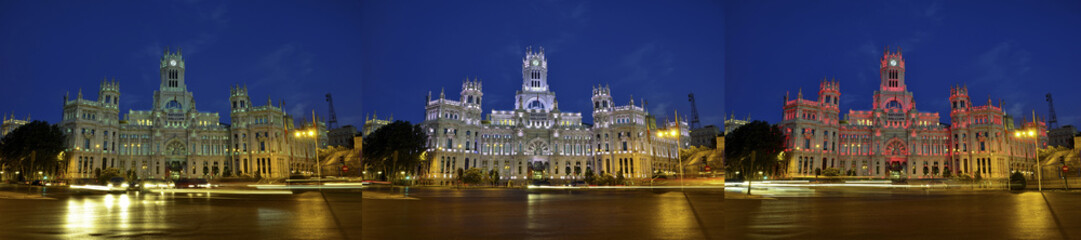 facade of the City of Madrid