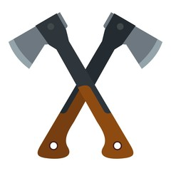 Two axes icon. Flat illustration of axes vector icon for web design