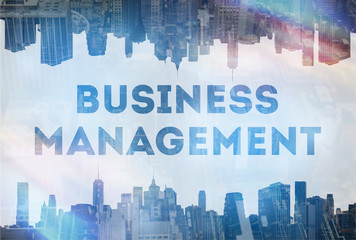 Business management concept images with big title and icons