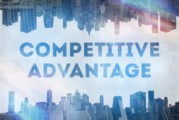Competitive advantage concept image