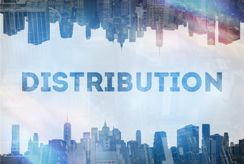 Distribution concept image